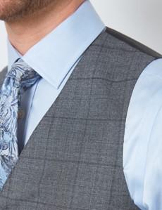 Men's Grey Tonal Check Slim Fit Suit