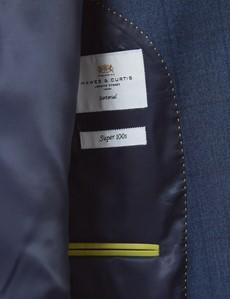 Men's Blue Check Slim Fit Suit Jacket