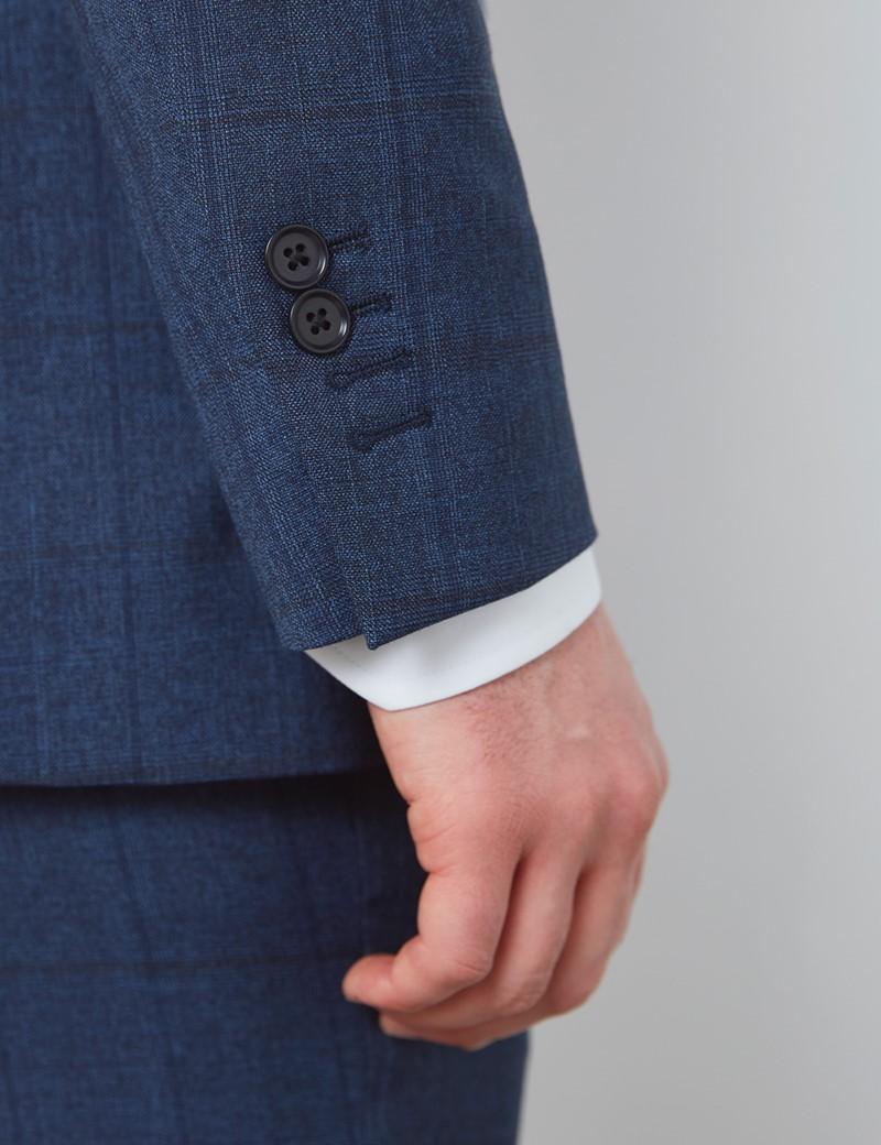 Men's Blue Check Slim Fit Suit