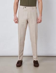 Men's Stone Italian Cotton Linen Slim Fit Suit - 1913 Collection