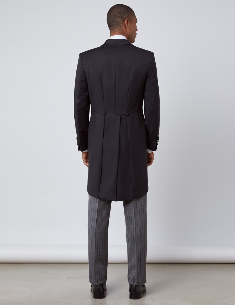 Men's Black Italian Wool Morning Coat – 1913 Collection