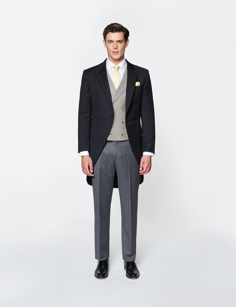 Men's Black Italian Wool Morning Coat – 1913 Collection