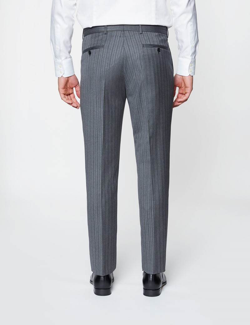 Men's Black & Grey Italian Wool Morning Suit – 1913 Collection