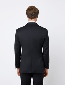 Men's Black Tailored Fit Italian Suit - 1913 Collection