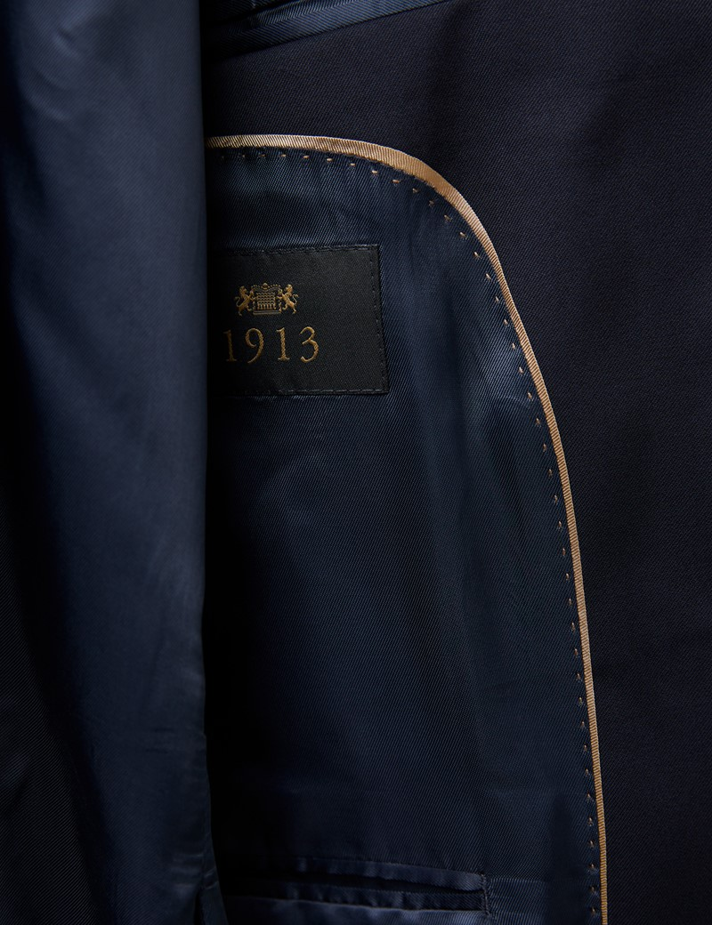 Men's Navy Tailored Fit Italian Suit - 1913 Collection