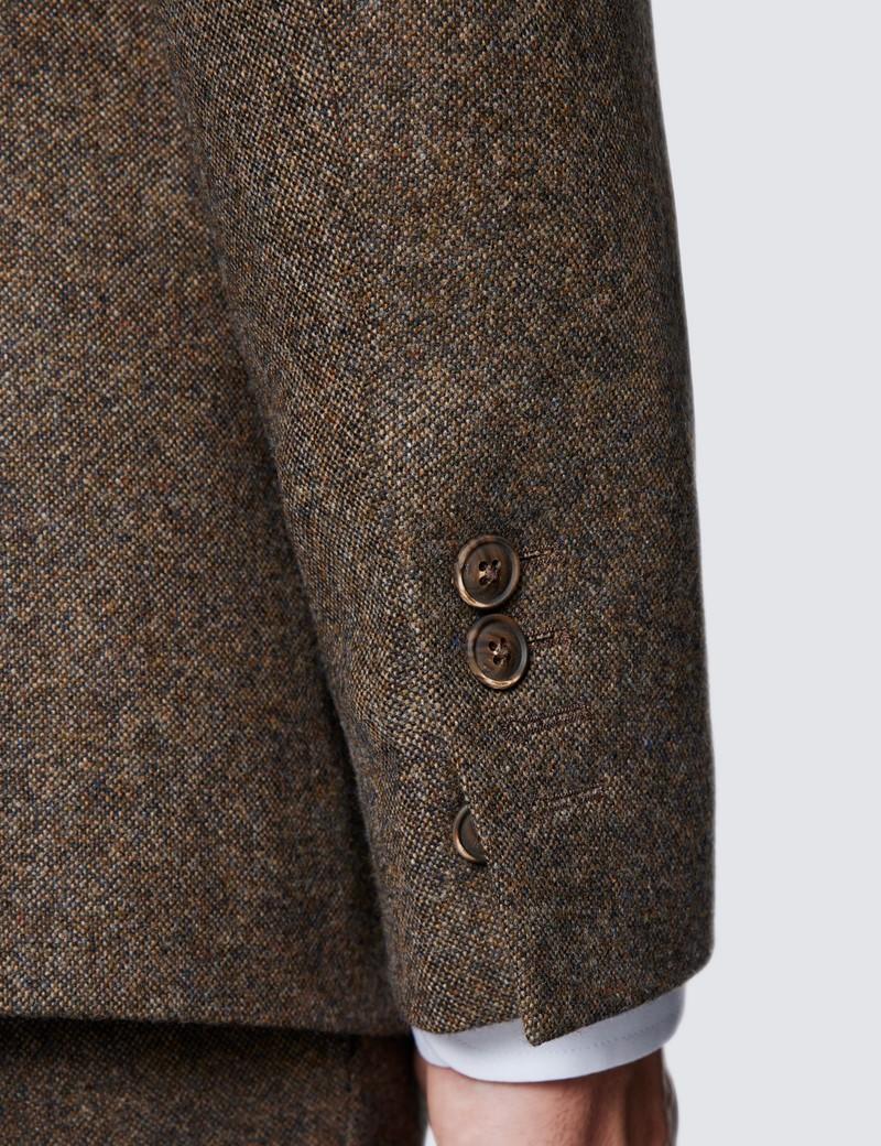 Men's Brown Tweed Slim Fit Suit Jacket - 1913 Collection