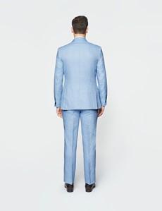 Leinensakko – 1913 Kollektion – Tailored Fit – 2-Knopf Einreiher – Fischgrat hellblau