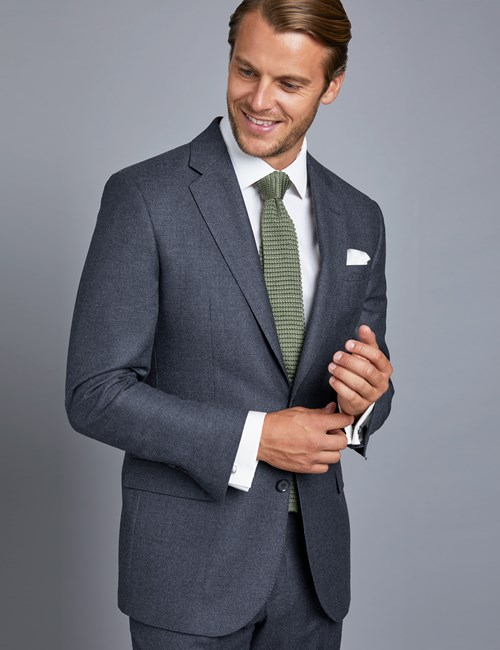Men's Blue Tailored Fit Italian Suit Jacket – 1913 Collection