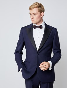 Men's Royal Blue Mohair Tailored Fit Italian Dinner Suit Jacket – 1913 Collection