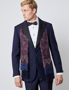 Men's Royal Blue Mohair Tailored Fit Italian Dinner Suit – 1913 Collection
