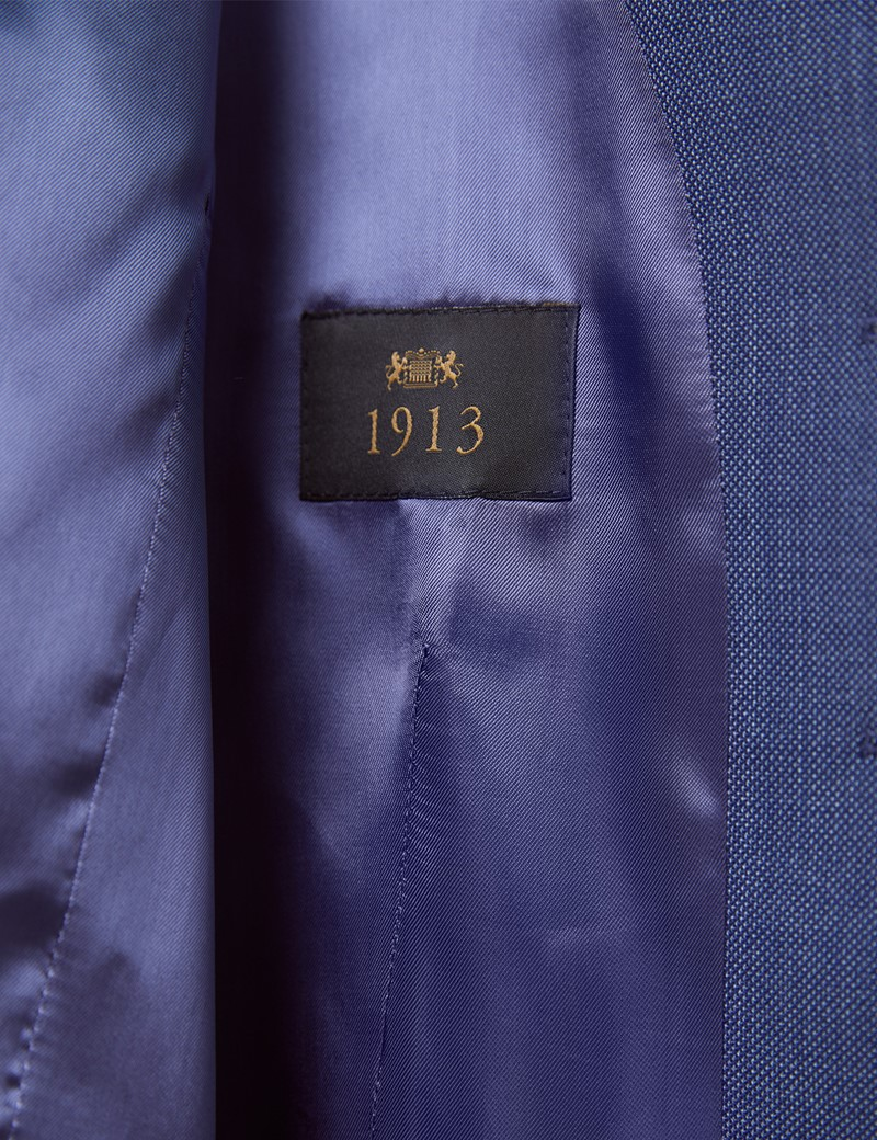 Men's Dark Blue Tailored Fit Italian Suit Jacket - 1913 Collection