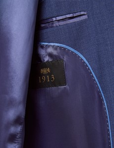 Men's Dark Blue Tailored Fit Italian Suit - 1913 Collection
