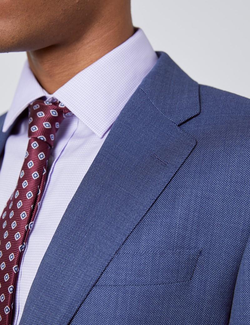 Men's Dark Blue Tailored Fit Italian Suit - 1913 Collection