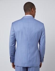 Men's Light Blue Slim Fit Italian Suit Jacket – 1913 Collection