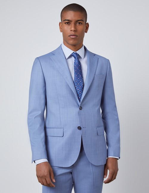 Men's Light Blue Slim Fit Italian Suit Jacket – 1913 Collection