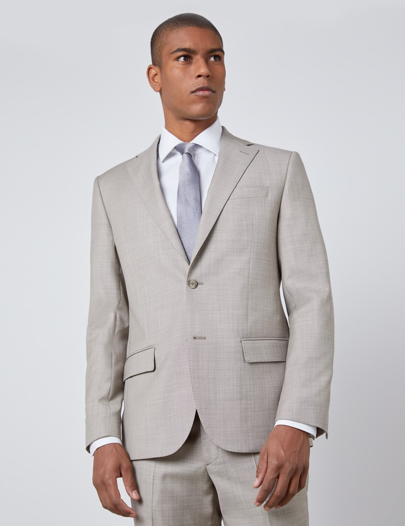 Men's Stone Slim Fit Italian Suit Jacket – 1913 Collection