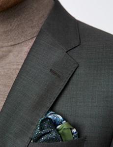 Anzugsakko - Tailored Fit - dunkelgrün - 120S Wolle - 2-Knopf Einreiher