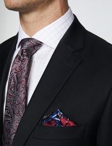 Men's Black Twill Classic Fit Suit Jacket