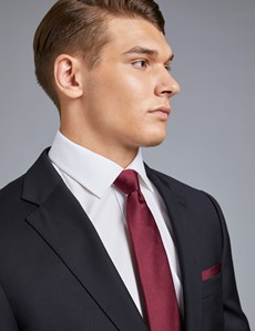 Anzug aus strapazierfähiger 100s Wolle - Classic Fit - Twill schwarz