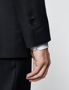 Men's Black Twill Classic Fit Suit