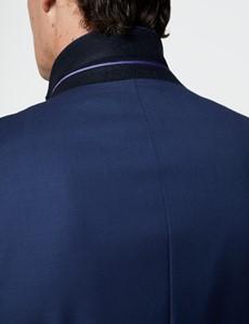 Men's Royal Blue Twill Classic Fit Suit Jacket