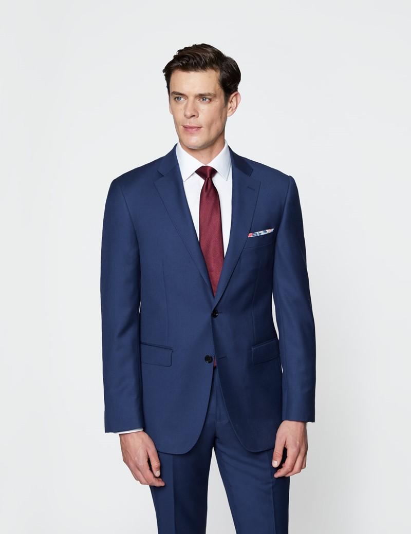 Men's Royal Blue Twill Classic Fit Suit