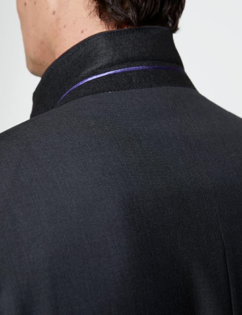 Men's Dark Charcoal Twill Classic Fit Suit Jacket