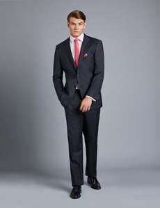 Men's Dark Charcoal Twill Classic Fit Suit