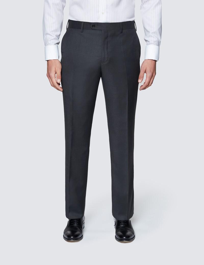 Men's Dark Charcoal Twill Classic Fit Suit