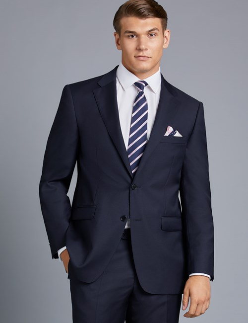 Men's Navy Twill Classic Fit Suit Jacket