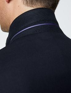 Men's Navy Twill Classic Fit Suit Jacket