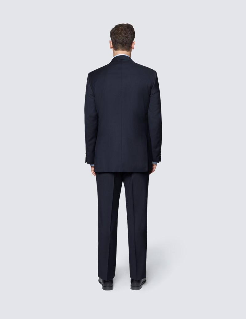 Men's Navy Twill Classic Fit Suit