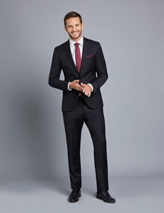 Men's Black Twill Extra Slim Fit Suit Jacket