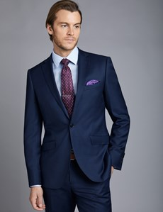 Men's Royal Blue Twill Extra Slim Fit Suit Jacket