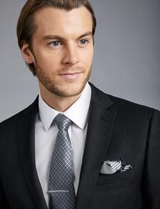 Men's Dark Charcoal Twill Extra Slim Fit Suit Jacket