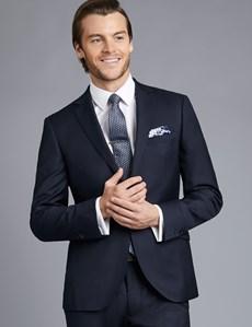 Men's Navy Twill Extra Slim Fit Suit