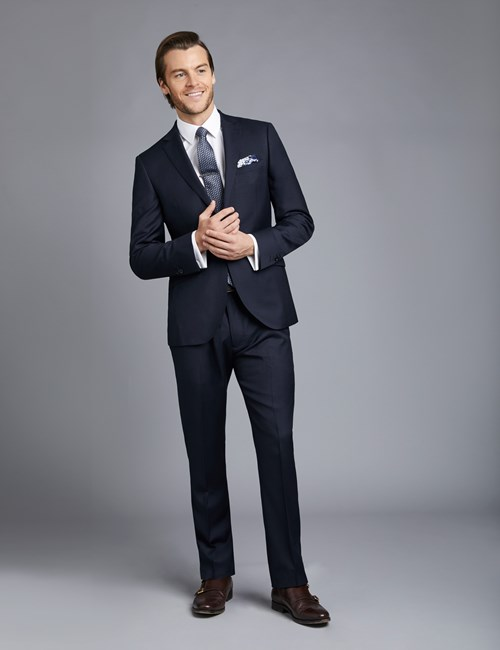 Men's Navy Twill Extra Slim Fit Suit
