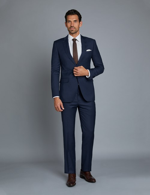 Men's Royal Blue Twill Extra Slim Fit Suit