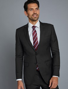 Men's Charcoal Twill Extra Slim Fit Suit Jacket