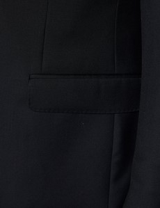 Men's Black Twill Slim Fit Suit Jacket