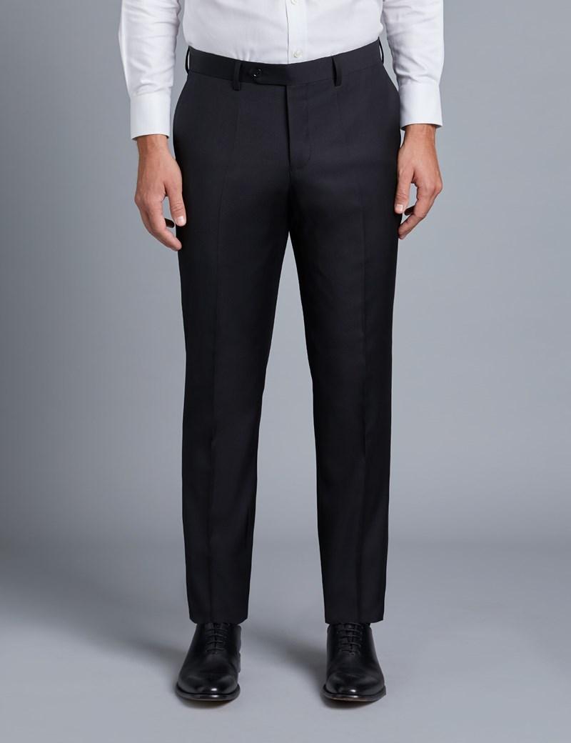 Anzug aus strapazierfähiger 100s Wolle - Slim Fit - Twill schwarz