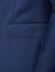 Men's Royal Blue Twill Slim Fit Suit