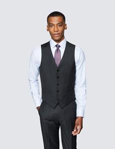 Men's Dark Charcoal Twill Slim Fit Suit