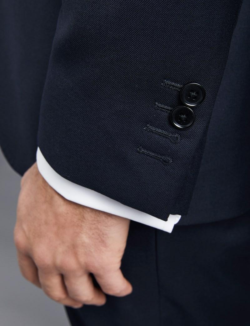 Anzug aus strapazierfähiger 100s Wolle - Slim Fit - Twill nachtblau
