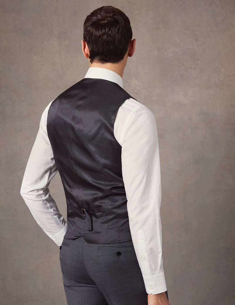 Men's Mid Grey Birdseye Slim Fit Suit