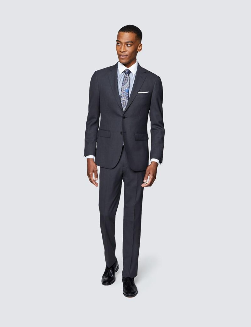 Men's Charcoal Slim Fit Travel Suit Jacket