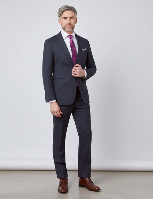 Men's Charcoal Slim Fit Travel Suit