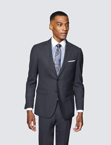 Men's Charcoal Slim Fit Travel Suit