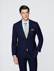 Men's Navy Slim Fit Travel Suit Jacket