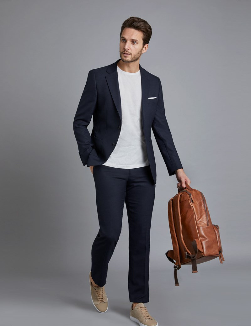 Men's Navy Slim Fit Travel Suit
